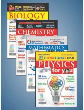 Physics For You+Chemistry Today+Mathematics+Biology Today Combo