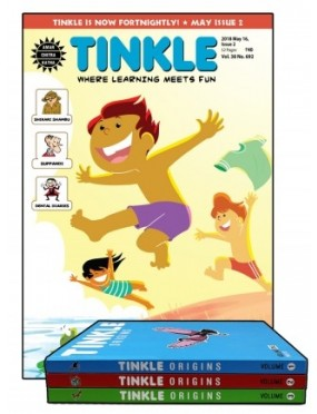 TINKLE MAGAZINE 1 YEAR SUBSCRIPTION + TINKLE ORIGINS VOL 1 2 AND 3