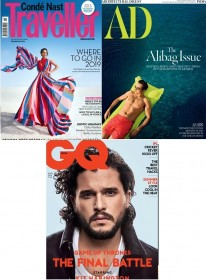 Conde Nast Traveller + Architectural Digest + GQ Magazine Combo