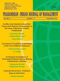 Prabandhan Indian Journal of Management