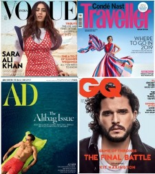 Vogue + GQ + AD + CNT Magazines Combo