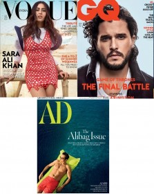 Vogue + GQ + Architectural Digest Magazines Combo
