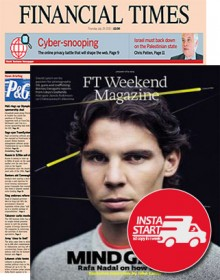 Financial Times Weekend Newspaper with Magazine